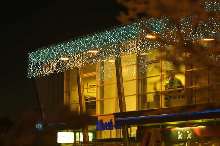 Christmas Light Curtains.Ledwin Building Christmas Decoration Curtain Lights